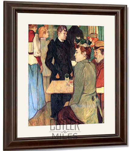 A Corner In The Moulin De La Galette By Henri De Toulouse Lautrec