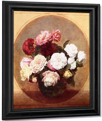 A Large Bouquet Of Roses By Henri Fantin Latour By Henri Fantin Latour