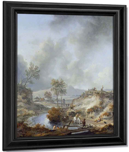 A Stream In Hilly Country By Philips Wouwerman Dutch