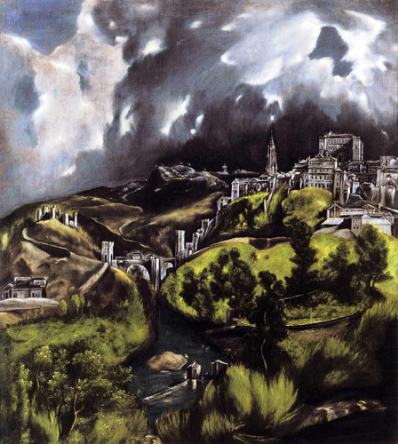 A View Of Toledo By El Greco By El Greco