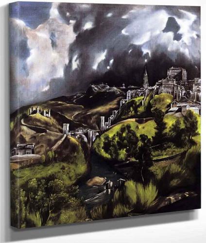 A View Of Toledo By El Greco By El Greco