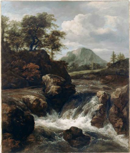 A Waterfall By Jacob Van Ruisdael