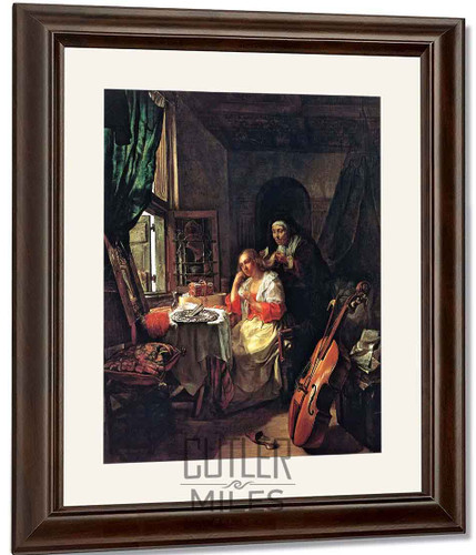 A Woman At Her Toilet By Gabriel Metsu