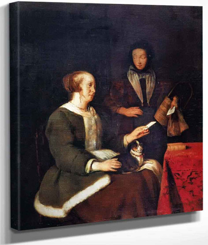 A Woman With A Letter By Gabriel Metsu