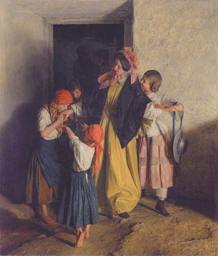 After Confirmation By Ferdinand Georg Waldmüller Austrian