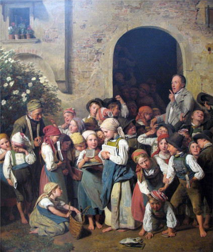 After School By Ferdinand Georg Waldmüller Austrian