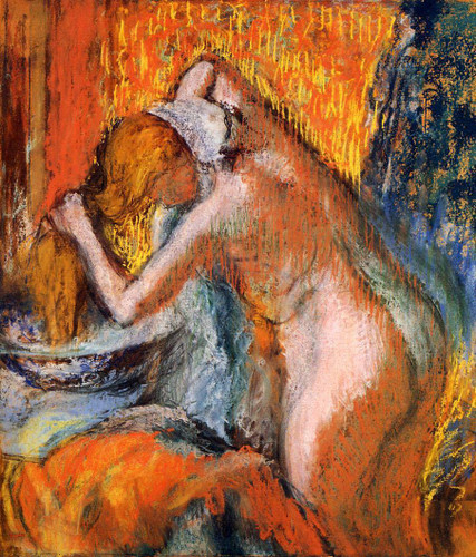 After The Bath, Woman Drying Her Hair By Edgar Degas By Edgar Degas