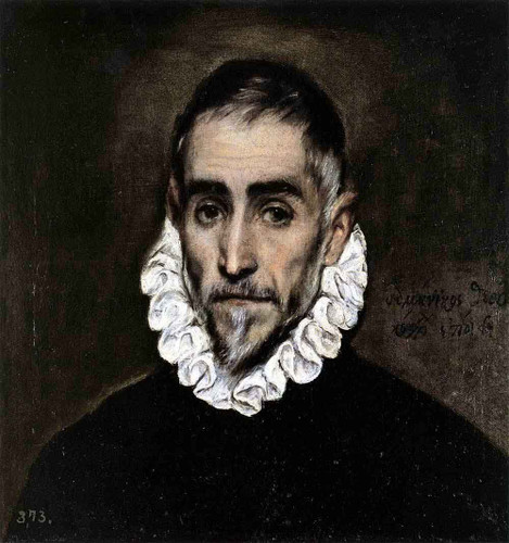 An Elderly Gentleman By El Greco By El Greco