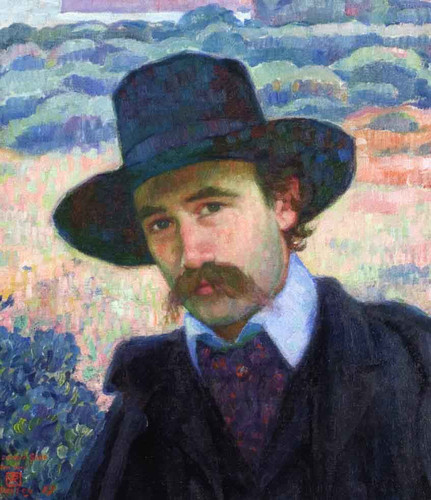 Andre Gide At Jersey By Theo Van Rysselberghe