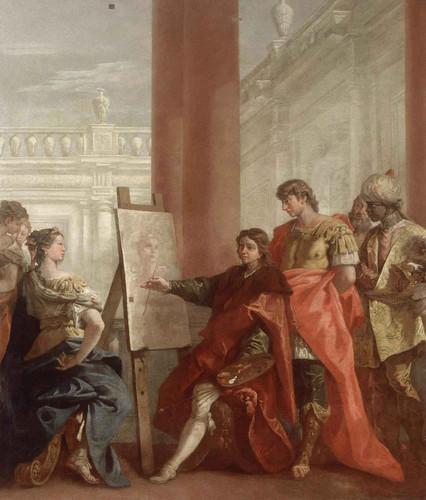 Apelles Paints Campaspa By Sebastiano Ricci