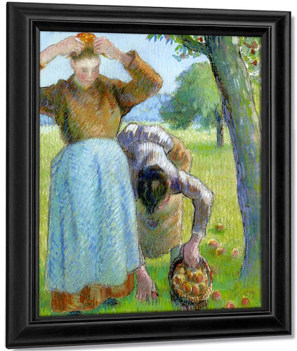 Apple Gatherers By Camille Pissarro By Camille Pissarro