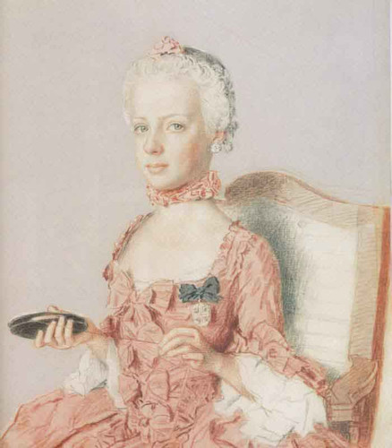 Archduchess Marie Antoinette Of Austria, Future Queen Of France, At Age Seven By Jean Etienne Liotard