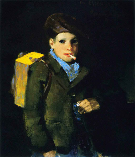 Boy With Dice By George Benjamin Luks