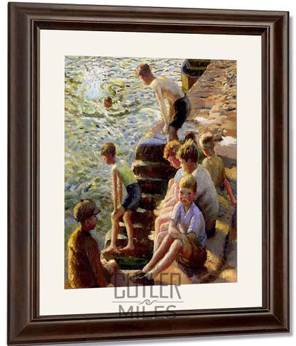 Boys Bathing By Harold Harvey