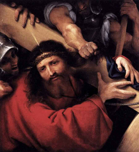 Christ Carrying The Cross By Lorenzo Lotto