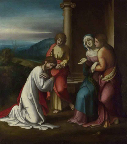 Christ Taking Leave Of His Mother By Correggio By Correggio