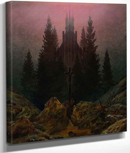 Cross And Cathedral In The Mountains By Caspar David Friedrich