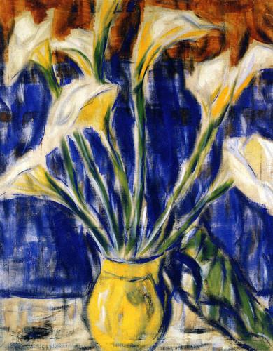 Calla Lilies By Christian Rohlfs