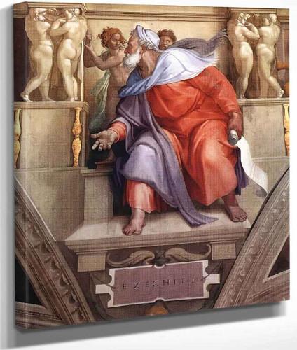 Ezekiel By Michelangelo Buonarroti By Michelangelo Buonarroti
