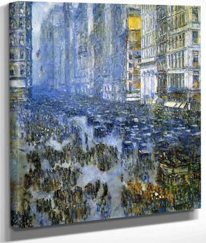 Fifth Avenue In Winter By Frederick Childe Hassam By Frederick Childe Hassam