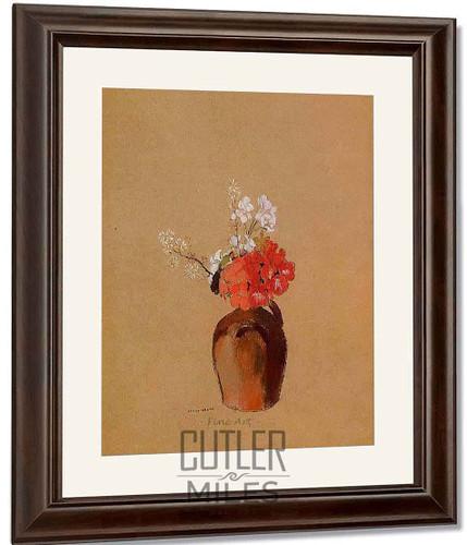 Flowers In A Pot By Odilon Redon By Odilon Redon