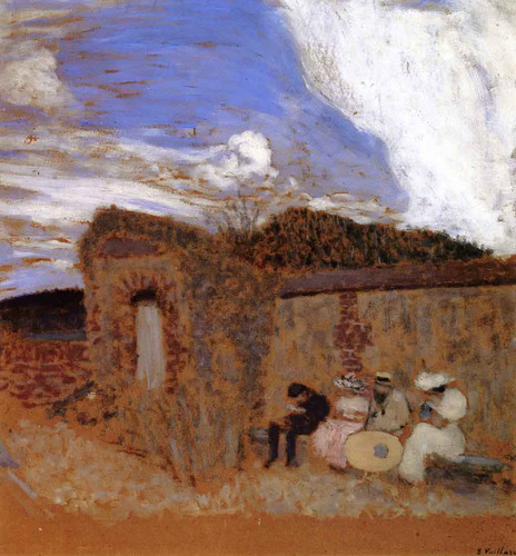 Four Figures On A Bench By Edouard Vuillard