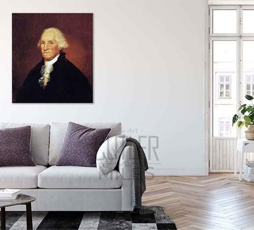 George Washington [The Gadsden Morris Clarke Portrait] By Rembrandt Peale