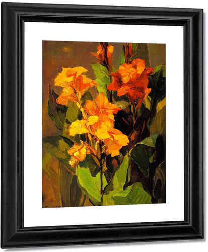 Canna Lilies By Franz Bischoff By Franz Bischoff