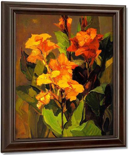 Canna Lilies By Franz Bischoff