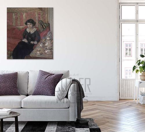 Girl In An Interior By Edouard Vuillard