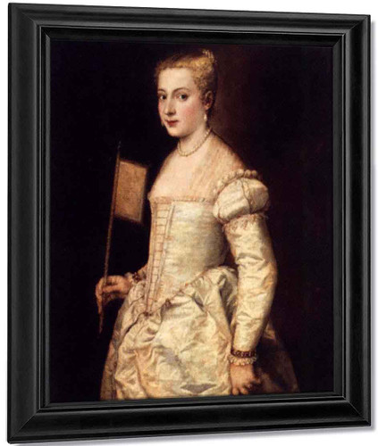 Girl With A Fan By Titian