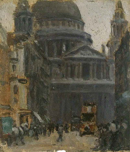 Ludgate Hill By Norman Garstin