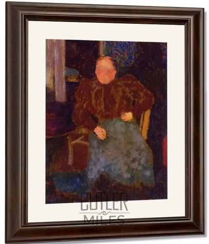 Madame Vuillard Seated By Edouard Vuillard