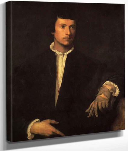 Man With A Glove By Titian
