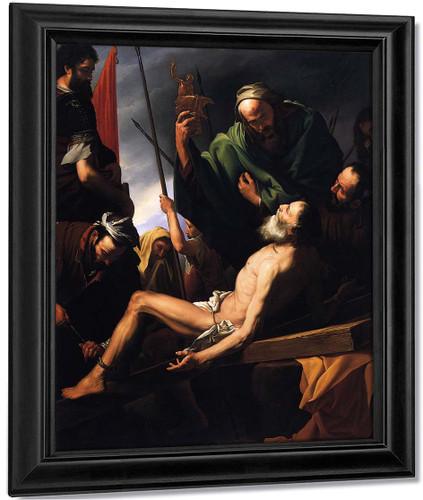 Martyrdom Of St Andrew By Ferdinand Georg Waldmüller Austrian