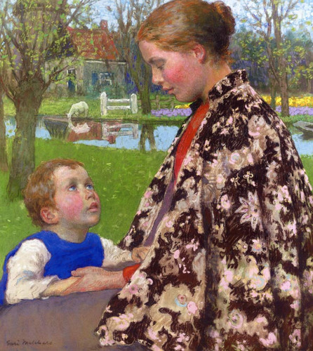 Mother And Child By Gari Melchers