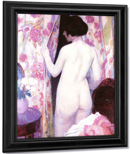 Nude With Drapery By Bernhard Gutmann