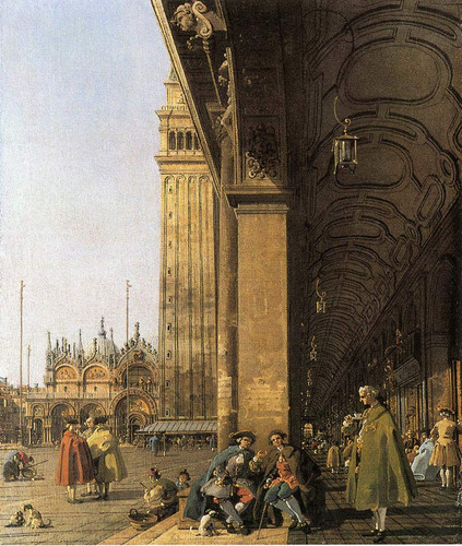 Piazza San Marco, Looking East From The Southwest Corner By Canaletto By Canaletto