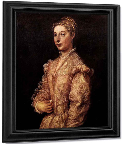 Portrait Of A Girl By Titian