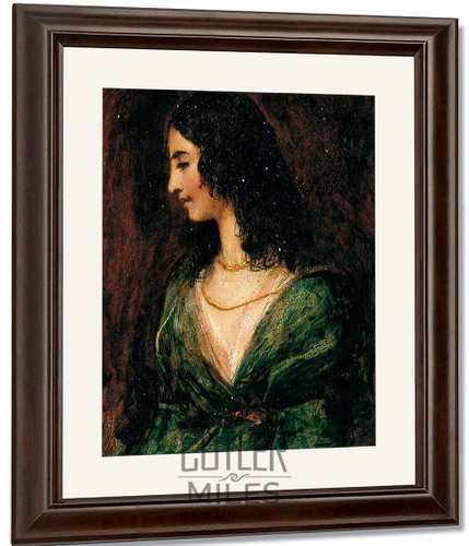 Portrait Of A Lady By William Etty By William Etty