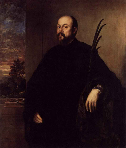 Portrait Of A Man With A Palm By Titian