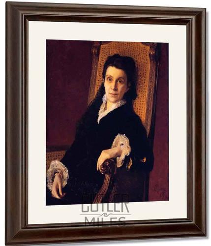 Portrait Of Polixena Stasova. By Ilia Efimovich Repin By Ilia Efimovich Repin