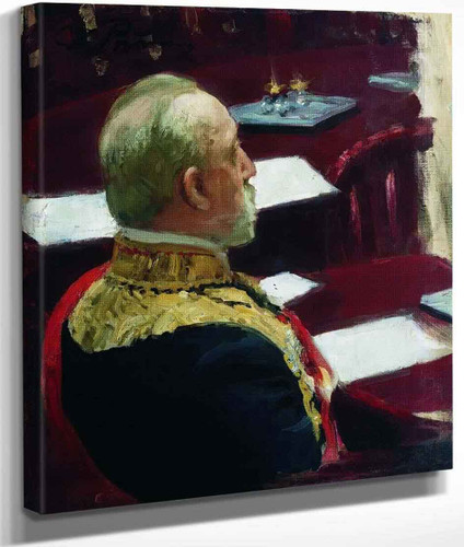 Portrait Of Secretary Of State, General And Member Of State Council Mikhail Nikolayevich Galkin Vraskoi. Study By Ilia Efimovich Repin