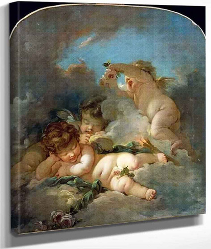 Putti Sleeping By Francois Boucher