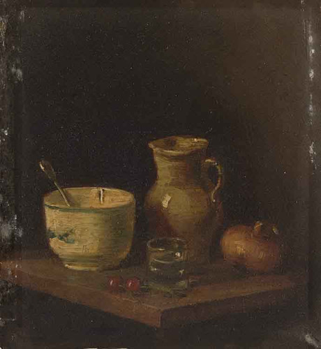 Still Life With A Pitcher, A Bowl, A Glass And Vegetables By Jean Baptiste Simeon Chardin By Jean Baptiste Simeon Chardin