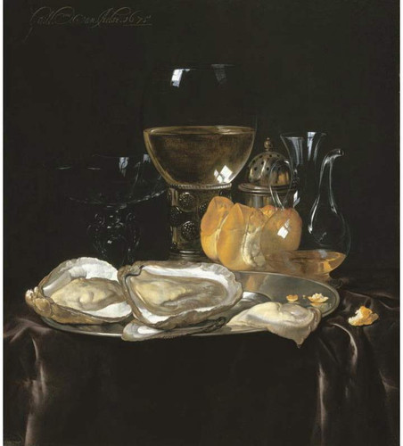 Still Life With A Roemer, A Carafe Of Vinegar, A Glass Tazza, Etc. By Willem Van Aelst By Willem Van Aelst