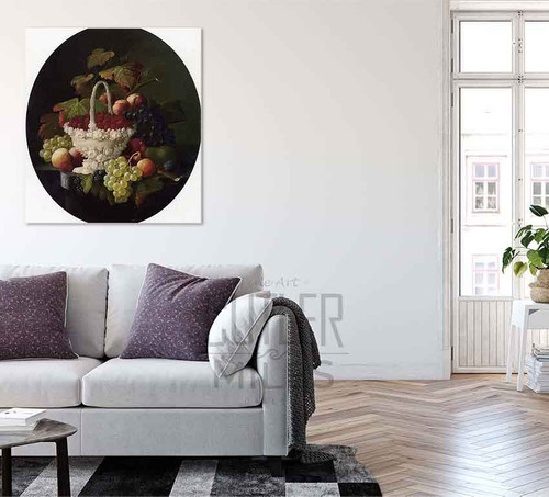 Still Life With Basket Of Strawberries By Severin Roesen