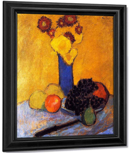 Still Life With Blue Vase By Alexei Jawlensky By Alexei Jawlensky
