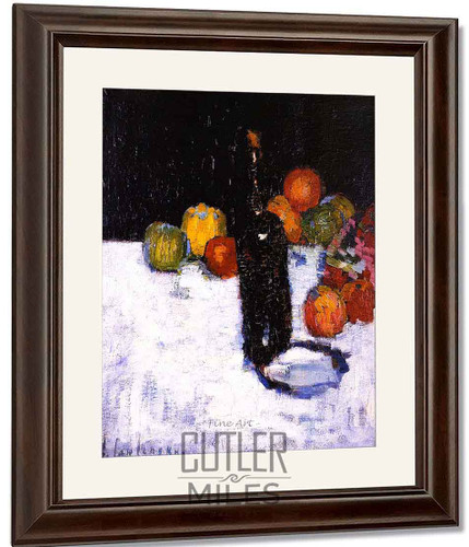 Still Life With Bottle And Apples By Alexei Jawlensky By Alexei Jawlensky
