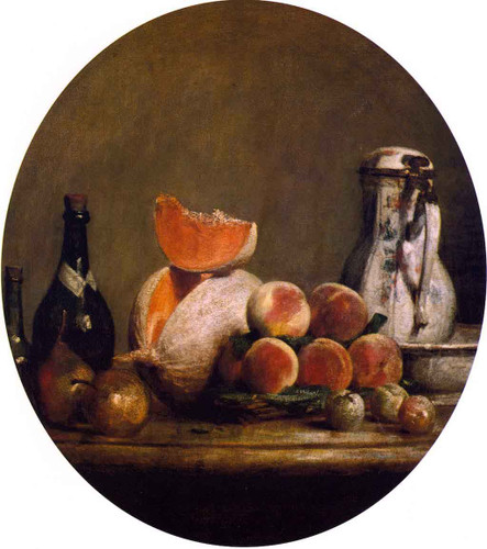 The Cut Melon By Jean Baptiste Simeon Chardin By Jean Baptiste Simeon Chardin